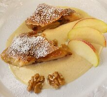 Maple Nut and Apple Strudel With Cinnamon Cream by SmoothBreeze7