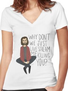 Bertram Gilfoyle Women's Fitted V-Neck T-Shirt