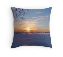 Ice Fishing #1 Throw Pillow