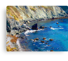 Rocky Shore photo painting Canvas Print