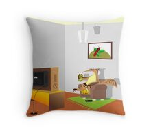 Breakfast, ant-eating bio, ie ants, funny image Throw Pillow