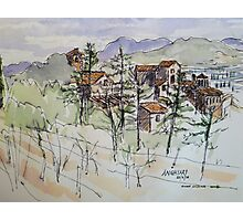 Anghiari. Tuscany Italy. Pen and wash. 2010Ⓒ Photographic Print