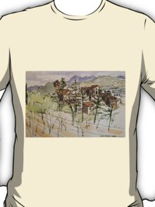 Anghiari. Tuscany Italy. Pen and wash. 2010Ⓒ T-Shirt