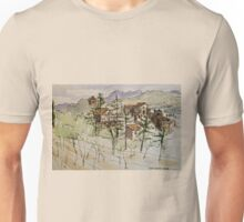 Anghiari. Tuscany Italy. Pen and wash. 2010Ⓒ Unisex T-Shirt