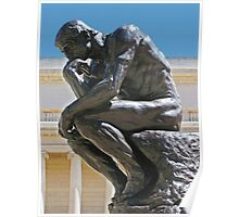 The Thinker photo painting Poster
