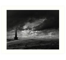The Lonely Path, Stoodley Pike, Todmorden. Art Print