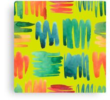 - Colorful doodle pattern (green) - Canvas Print