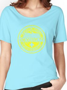 Dune Sea Lifeguard Aurebesh [Yellow Distressed] Women's Relaxed Fit T-Shirt