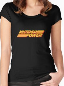 Nintendo Power Logo Women's Fitted Scoop T-Shirt