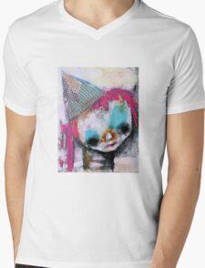 Pink Hair Clown  Mens V-Neck T-Shirt