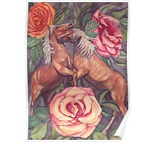 Spring Horseplay Poster