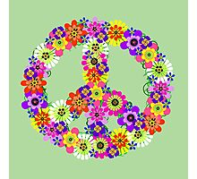 Peace Sign Floral Photographic Print