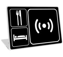 Eat Sleep WiFi Laptop Skin