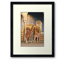 Happiness is a giraffe thing Framed Print