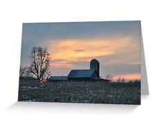Parker City Sunset 2/1/10 Greeting Card