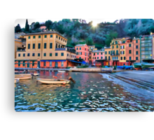 Portofino paint three Canvas Print