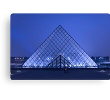 Paris Le Louvre by night Canvas Print