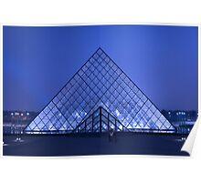 Paris Le Louvre by night Poster