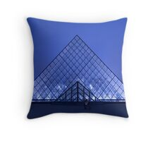 Paris Le Louvre by night Throw Pillow