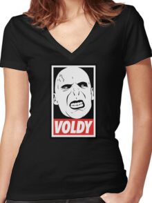 VOLDY Women's Fitted V-Neck T-Shirt