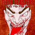 Flesh Feasters movie poster by stitchgrin