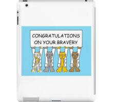 Congratulations on your barvery. iPad Case/Skin