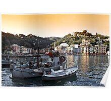 Portofino paint four Poster