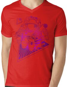 Spaceman lost in deep Cosmos Mens V-Neck T-Shirt