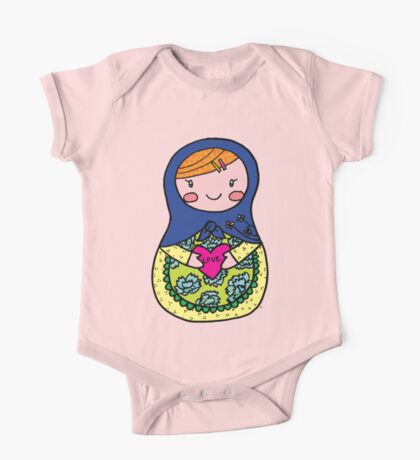 Love Russian Doll with Red Hair One Piece - Short Sleeve