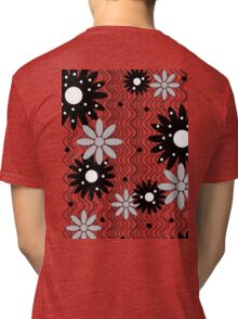 Flowers on Waves Tri-blend T-Shirt