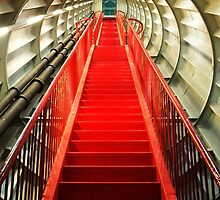 Red staircase by Tomasz Juszczak
