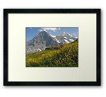 Switzerland - Eiger and Mönch Framed Print