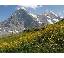 Switzerland - Eiger and Mönch Photographic Print