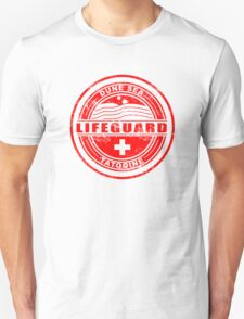 Dune Sea Lifeguard [Red Distressed] Unisex T-Shirt