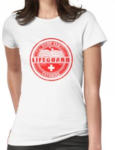 Dune Sea Lifeguard [Red Distressed] Womens Fitted T-Shirt
