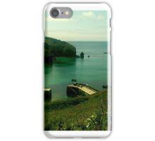 Mullion harbour, Cornwall Uk iPhone Case/Skin