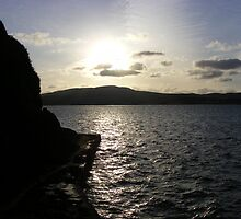 Cold sunset over the colder Lough Swilly by Gerry  Temple
