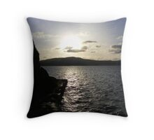 Cold sunset over the colder Lough Swilly Throw Pillow