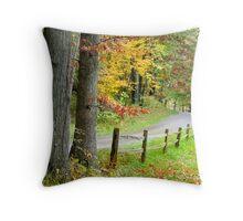 Autumn Scene Throw Pillow