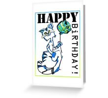 MR. KiTTY'S BALLOON! - CAT BIRTHDAY CARD Greeting Card