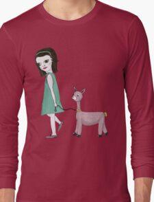 Llama Girl Long Sleeve T-Shirt