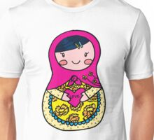 Love Russian Doll with Black Hair and Light Skin Unisex T-Shirt