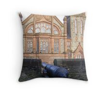 Derry's City Walls and Guidhall Throw Pillow
