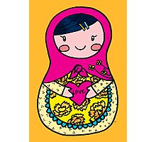 Love Russian Doll with Black Hair and Light Skin Photographic Print