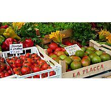 Italian market  Photographic Print