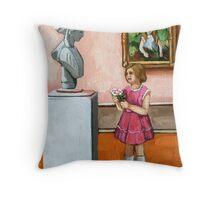 Small Wonder - portrait Throw Pillow