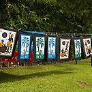Batik Drying on the Line by Memaa