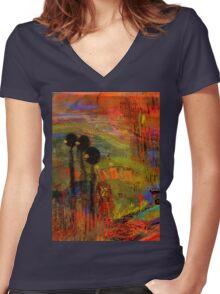 Admiring God's Handiwork I Women's Fitted V-Neck T-Shirt