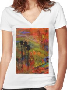 Admiring God's Handiwork I Women's Fitted V-Neck T-Shirt