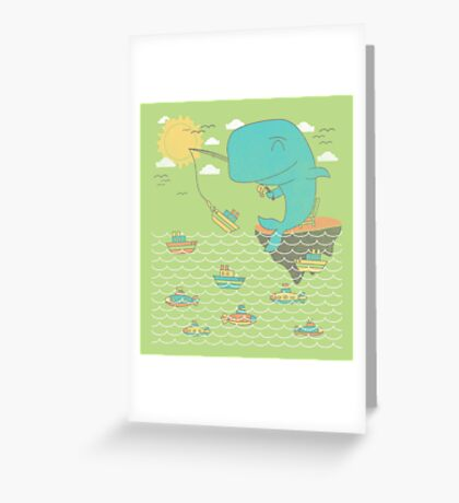 Gone Shipping Greeting Card